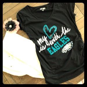 NFL team apparel love is with the Eagles t-shirt